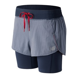 NEW BALANCE IMPACT PRINTED 2 IN 1 SHORT